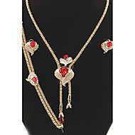 Komplet nakita Prsten Naušnice Postavi Ogrlica / narukvica KristalKružni dizajn Jedinstven dizajn Stil cvijeta Rhinestones Geometrijski