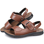 Sandals Spring Summer Fall Comfort Cowhide Outdoor Office & Career Party & Evening Casual Black Brown Upstream shoes