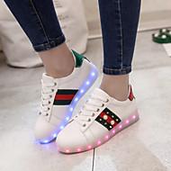 Para Meninas-Tênis-Conforto Light Up Shoes-RasteiroCouro Ecológico-Ar-Livre Casual Para Esporte
