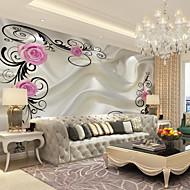 Décoration artistique 3D Fond d'écran pour la maison Contemporain Revêtement , Toile Matériel adhésif requis Mural , Couvre Mur Chambre