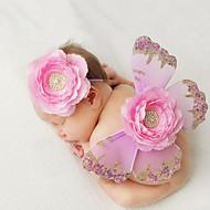 algodão bonito do bebê recém-nascido tricotar o terno borboleta