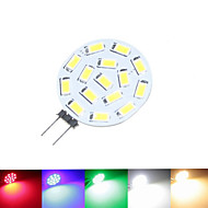 G4 GU4 GZ4 1.5W 15SMD 5630 Warm/Cool/Natural White Green Red Blue 100-150LM Led Light Bulbs (9-36V AC/DC)