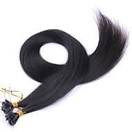 fuusio u kärki hiuksista laajentaminen # 60 # 60 / vaaleanpunainen vaaleanvihreä vaaleanpunainen harmaa värikäs hiukset 100% Brasilian