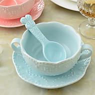 1 Pcs Ceramic Dinnerware Set Dinnerware with Plate and Spoon