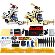 Solong Tattoo® Complete Tattoo Kit 2 Pro Machines 40 Inks Power Supply Foot Pedal Needles Grips Tips TK228
