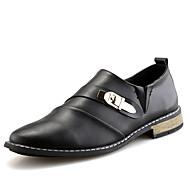 גברים-נעלי אוקספורד-עור-נוחות נעליים פורמלית-שחור חום בורגונדי-חתונה משרד ועבודה מסיבה וערב-עקב שטוח