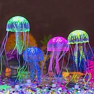 Akvarij Dekoracija Meduza Umjetno Svijetli u mraku Silikon