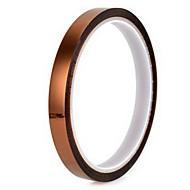 0.06 paksu ruskea korkean lämpötilan nauha 6mm * 33m