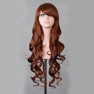 charmante lumière lolita bleu 80cm longs ondulés perruque haute temperatre cosplay parti perruque femmes de fibres