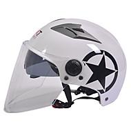 GXT M11 motorcykel halv hjelm dual-linse harley solcreme hjelm sommer unisex velegnet til 55-61cm med lang gennemsigtig linse