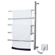 "Towel Warmer Stainless Steel Wall Mounted 620 x 500 x 112mm (24.4 x 19.6 x 4.40"") Stainless Steel Contemporary"