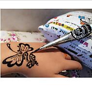 Väliaikaiset maalitGlitter-Henna-14*3*3-MustaVauva Lapsi Naisten Girl Miesten Aikuinen Boy Teini 1