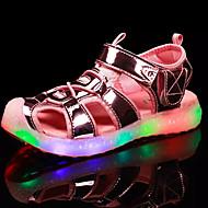 Sandály-PU-Gladiátorské Light Up botyZlatá Stříbrná Růžová-Outdoor-Plochá podrážka