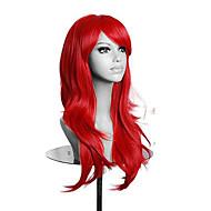 υψηλής ποιότητας κόκκινο μακρύ κυματιστό περούκα γυναικών συνθετικό lolita cosplay περούκα 5 χρώματα