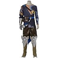 Inspiré par Overwatch Ace Vidéo Jeu Costumes de Cosplay Costumes Cosplay Cosplay Hauts / Bas Points Polka Bleu Gris DoréHaut Pantalons