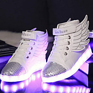 Boys' Sneakers Spring Fall Winter Light Up Shoes Comfort Novelty PU Outdoor Athletic Casual Flat Heel Magic Tape LED Lace-up Walking
