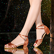 ללא התאמה אישית-עקב נמוך-סטין עור-לטיני-נעלי ילדות
