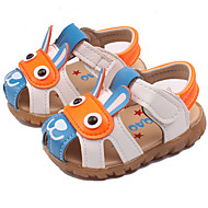 Boys' Baby Sandals Comfort PU Spring Summer Fall Casual Outdoor Comfort Applique Flat Heel Yellow Brown Blue Brown Yellow Flat