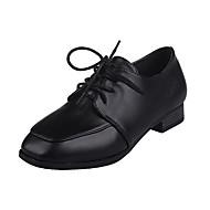 נשים-שטוחות-PU-רצועת T-שחור בז'-משרד ועבודה יומיומי-עקב שטוח