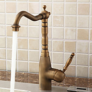 Sprinkle® Kitchen Faucets  ,  Antique  with  Polished Brass Single Handle One Hole  ,  Feature  for Centerset