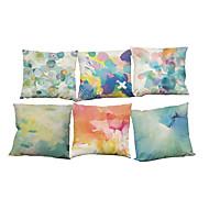 Set of 6 Printing pattern Linen Pillowcase Sofa Home Decor Cushion Cover