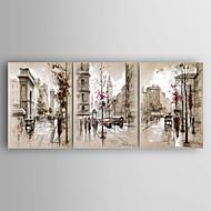 Kézzel festett Landscape Vízszintes,Modern Három elem Vászon Hang festett olajfestmény For lakberendezési