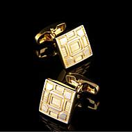 Cufflink Tie Bar Γραβάτα κλιπ Χαλκός Μοντέρνα Δώρο Κουτιά & Τσάντες Butoni Χρυσαφί 1 ζευγάρι