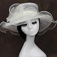 Organza Chiffon Fabric Headpiece-Wedding Special Occasion Casual Outdoor Fascinators 1 Piece