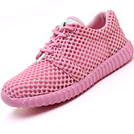 Women's Athletic Shoes Spring Summer Fall Comfort Nylon Tulle Outdoor Athletic Casual Low Heel Lace-up Running