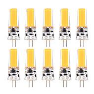 3W G4 Luminárias de LED  Duplo-Pin T 1 COB 200-300 lm Branco Quente Branco Frio Decorativa Regulável AC 12 V 10 pçs