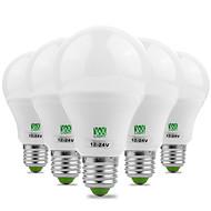 7W E26/E27 LED Λάμπες Σφαίρα 14 SMD 5730 600-700 lm Θερμό Λευκό Ψυχρό Λευκό Διακοσμητικό AC 12 V 5 τμχ