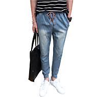 Herren Einfach Mittlere Hüfthöhe Micro-elastisch Jeans Haremshosen Hose einfarbig