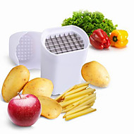 3 Pças. Batata Cortador e Fatiador For Fruta Vegetais Plástico Aço Inoxidável Alta qualidade Gadget de Cozinha Criativa