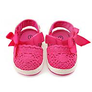 Infantil-Mocassins e Slip-Ons-Primeiros Passos Menina Flor Shoes-Rasteiro-Rosa cor de Rosa-Tecido-Casamento Social Casual Festas & Noite