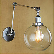 AC 110-130 AC 220-240 40 E26/E27 Country Retro Electroplated Feature for Mini Style Bulb Included Eye Protection,Ambient LightSwing Arm