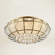 Full Copper  Crystal Ceiling Bedroom Living Room Crystal Ceiling Lamp B