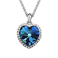 Dames Hangertjes ketting Saffier Kristal Hartvorm Oostenrijks kristal Legering Liefde Modieus Donkerblauw Sieraden VoorBruiloft Feest
