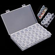 28-grille clou en plastique transparent outil de carter de boîte de rangement de l'art