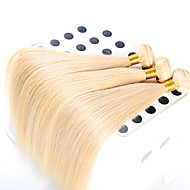 3 pieces/lot 100% Unprocessed Top Quality European Hair Straight Hair Wavy, Top Grade Virgin Color 613#Hair Extension
