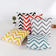 1 個 シェニール 枕カバー,ストライプ 幾何学模様 コンテンポラリー クラシック
