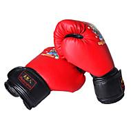 Bokshandschoenen voor Boksen lapaset Beschermend PU Zwart Rood