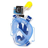 Snorkelmaske Snorkelpakker Heldekkende maske Dykking og snorkling Dykking Plast Silikon PVC Blå Svart Rød-WINMAX
