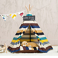 Dog Cat Bed Strip Color Tent Pet Bed