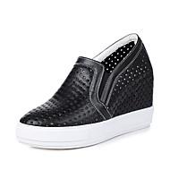 Feminino-Tênis-Buraco Shoes-Plataforma-Branco Preto Verde-Couro Ecológico-Escritório & Trabalho Social Festas & Noite