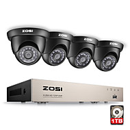 ZOSI® 8CH CCTV System 1080N HDMI 4IN1 DVR 4PCS 720P IR Outdoor Camera 1TB HDD