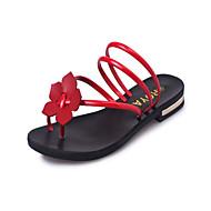 Women's Slippers & Flip-Flops Summer Mary Jane Leatherette Outdoor Dress Low Heel Flower Walking