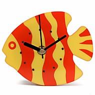 пластиковый магнит синий оранжевый часов холодильник кухня настенный часов рыба дизайн пластиковые рыбы холодильник магнит