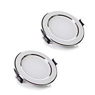 Zdm 2pcs / lot 5w sans fil ac 220v dimmable led downlights lumière blanche / cool blanc panle led pour éclairage domestique