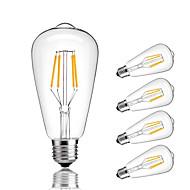 4W E27 LED filament žarulje ST64 4 COB 360 lm Toplo bijelo Hladno bijelo Ukrasno AC 220-240 V 5 kom.