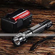 WF-501B U2 Cree XM-L U2 1200 Lumens LED Flashlight + 2 x 18650 3000mAh Battery + Charger